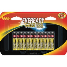 Eveready Gold Alkaline AAA Batteries - For Multipurpose, Remote Control, Radio, Calculator, Toy - AAA - Alkaline - 24 / Pack