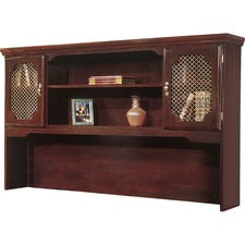 "DMi Governor's Collection Mahogany Furniture - 66"" x 13"" x 46"" - 4 Shelve(s) - Mitered Edge - Material: Wood - Finish: Mahogany, High Pressure Laminate (HPL) Surface"
