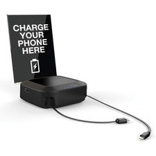 ChargeTech Battery Powered Charging Hub - For Mobile Phone, iPhone, e-book Reader, Camera - 10000 mAh - Black