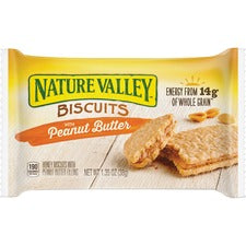 NATURE VALLEY Flavored Biscuits - Peanut Butter, Honey - Box - 1.35 oz - 16 / Box