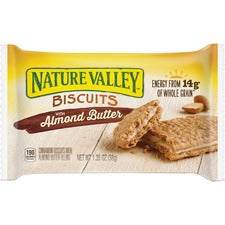 NATURE VALLEY Flavored Biscuits - Almond Butter, Cinnamon - Box - 1.35 oz - 16 / Box