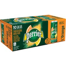 Perrier Slim Can Mineral Water Beverage - Ready-to-Drink - Citrus Flavor - 8.45 fl oz (250 mL) - Can - 30 / Carton