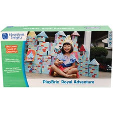 Educational Insights PlayBrix Royal Adventure - Theme/Subject: Learning - Skill Learning: Imagination, Creativity, Science, Balance, Gravity, Social Skills, Construction, Vocabulary, Communication - 3-7 Year