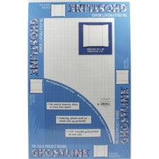 "Ghostline Tri-Fold Foam Board - Presentation, School, Home, Art, Office - 14"" x 22""0.40"" - 5 / Carton - White - Foam"