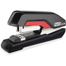 "Swingline SuperFlatClinch 50 Desktop Stapler - 50 Sheets Capacity - 105 Staple Capacity - Half Strip - 5/16"" Staple Size - Black, Red"