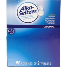Alka-Seltzer Original Antacid Tablets - For Heartburn, Upset Stomach, Acid Indigestion, Headache, Pain, Body Ache - 100 / BoxBox