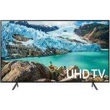 "Samsung RU7100 UN43RU7100F 42.5"" Smart LED-LCD TV - 4K UHDTV - Charcoal Black - Edge LED Backlight - Alexa, Google Assistant Supported - Tizen - Dolby, Dolby Digital"