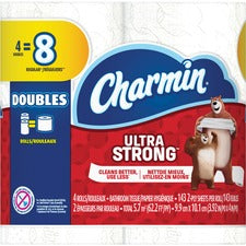 Charmin Double Roll Bath Tissue - 2 Ply - 143 Sheets/Roll - White - Strong, Textured, Absorbent, Septic Safe, Clog-free - For Washroom - 48 / Carton