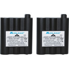 Midland Radio BATT5RX Rechargeable Battery Pack - For Two-way Radio - Battery Rechargeable - 6 V - Nickel Metal Hydride (NiMH) - 2 / Pack