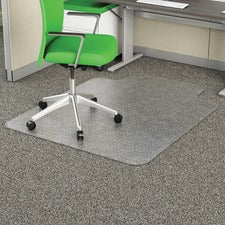 "Deflecto Earth Source 36x48 EconoMat Mat with Lip - Commercial, Carpet - 48"" Length x 36"" Width x 0.10"" Thickness - Lip Size 10"" Length x 19"" Width - Clear"
