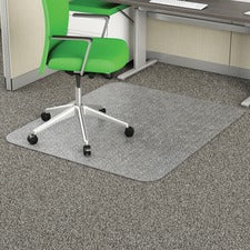 "Deflecto Earth Source 36x48 EconoMat Chair Mat - Commercial, Carpet - 48"" Length x 36"" Width x 0.10"" Thickness - Rectangle - Clear"