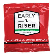 Coffee Pro Eight O'Clock Early Riser Decaf Coffee - Decaffeinated - Arabica - 2 oz - 48 / Carton