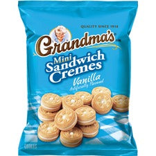 Quaker Oats Grandma's Vanilla Mini Cookie Cremes - Vanilla - 2.12 oz - 60 / Carton