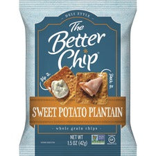 The Better Chip Sweet Potato Plantain Chips - Gluten-free - Sweet Potato Plantain - 1.50 oz - 27 / Carton