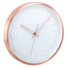 "Artistic 12"" Copper II Wall Clock - Metal Case"