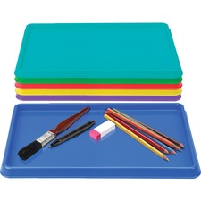 "Storex Sorting & Crafts Tray - Bead, Crayon, Supplies, Craft - 0.30"" x 8.10""9.90"" - 24 / Set - Assorted"