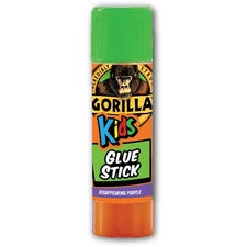 Gorilla Kids Disappearing Purple Glue Stick - 0.21 oz - 24 / Box - Purple