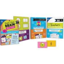 "Carson Dellosa Education Train Your Brain Fractions Classroom Kit - Classroom Activities, Modeling, Fun and Learning - Recommended For 7 Year - 10 Year - 1.10"" x 11.60"" x 8.90"" - 111 / Each - Multi"