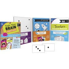 "Carson Dellosa Education Train Your Brain Number Sense Class Kit - Classroom Activities, Fun and Learning - Recommended For 4 Year - 7 Year - 1.10"" x 11.60"" x 8.90"" - 111 / Each - Multi"