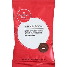 Seattle's Best Coffee Pier 70 Blend Ground Coffee Pouch - Pier 70, Cocoa - 2 oz - 18 / Box