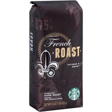 Starbucks Dark French Roast 1 lb. Ground Coffee - Regular - Smoky - French/Dark - 16 oz Per Bag - 1 Each