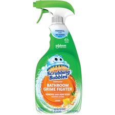 Scrubbing Bubbles® Grime Fighter Cleaner - Spray - 32 fl oz (1 quart) - Fresh Citrus Scent - 8 / Carton - Clear