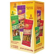 Kar's Nuts Trail Mix Variety Pack - Mango Pineapple, Yogurt Apple, Sweet and Spicy - 24 / Box