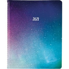Rediform Soft Cover Weekly Appointment Book - Weekly - 1 Year - January till December - Twin Wire - Multi - Time Zone, Durable Cover, Wear Resistant, Tear Resistant, Six Month Reference, Soft Cover - 1 Each