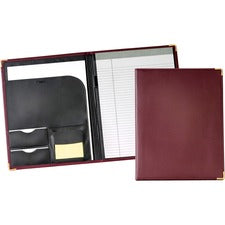 "Cardinal Performers Letter Size Pad Holders - Letter - 12 3/4"" x 10"" Sheet Size - 20 Sheet Capacity - 1 Internal Pocket(s) - Vinyl, Polyvinyl Chloride (PVC), Leather - Burgundy - 1.18 lb - 1 Each"
