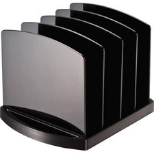 "OIC 2200 Series Standard Sorters - 4 Compartment(s) - 6.8"" Height x 9.4"" Width x 8"" Depth - Desktop - Black - Plastic - 1Each"