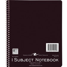 "Roaring Spring 1-Subject Spiralbound Notebook - 50 Sheets - Wire Bound - Ruled Red Margin - 15 lb Basis Weight - 7"" x 8 1/2"" - White Paper - Assorted Cover - 50 / Each"
