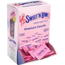 SWEET'N LOW Sugar Substitute Packets - Packet - 0 lb (0 oz) - Artificial Sweetener - 400/Box