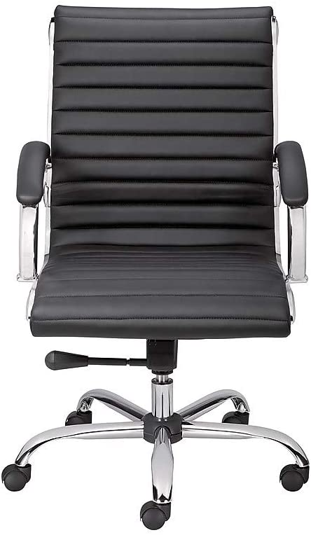 Staples Bresser Luxura Faux Leather Manager Chair, Black (23096-CC)