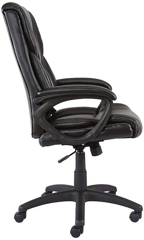 Staples Kelburne Luxura Faux Leather Computer and Desk Chair, Black (50859)