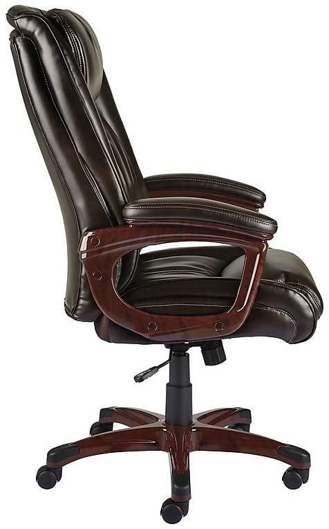 Staples Westcliffe Bonded Leather Computer and Desk Chair, Brown (50219R-CC)