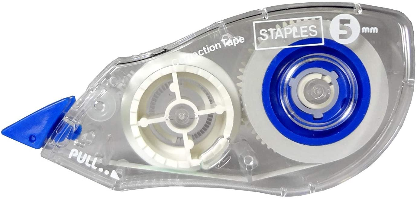 Staples Topwinder Correction Tape, 10/Pack (51666)
