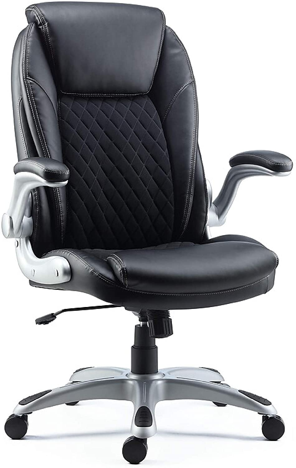 Staples Sorina Bonded Leather Chair, Black (51471)
