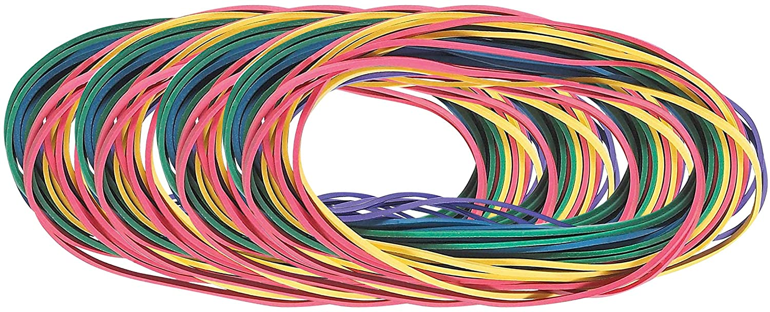 "7"" Multicolor Extra Large Rubber Bands - Assorted Mixed Color Rubber Bands, Rubber Bands for Office, School & Home, Stretchable Rubber Elastics Bands, Big Size Rubber Bands (Multicolor, 48 Pack)"