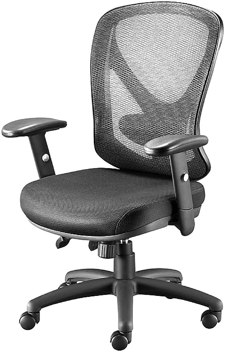 Staples Carder Mesh Back Fabric Computer and Desk Chair, Black (24115-CC)