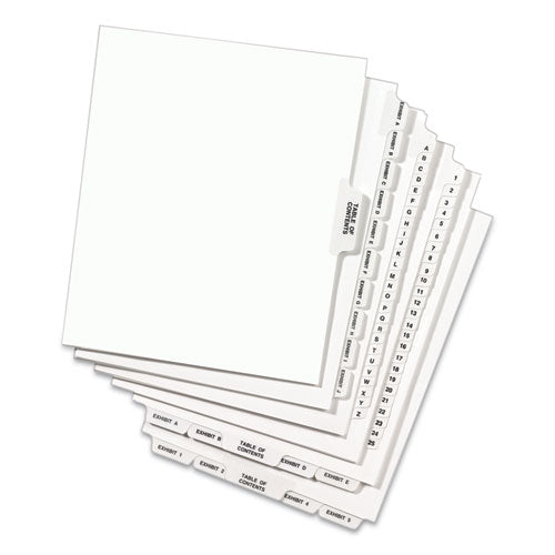 Preprinted Legal Exhibit Side Tab Index Dividers, Avery Style, 26-tab, C, 11 X 8.5, White, 25-pack, (1403)