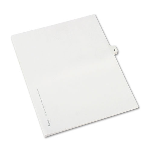 Preprinted Legal Exhibit Side Tab Index Dividers, Avery Style, 26-tab, P, 11 X 8.5, White, 25-pack, (1416)