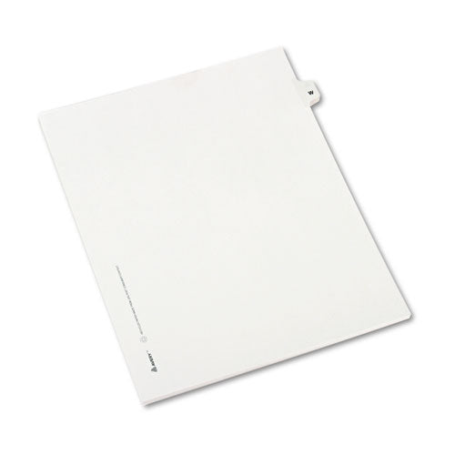 Preprinted Legal Exhibit Side Tab Index Dividers, Avery Style, 26-tab, W, 11 X 8.5, White, 25-pack, (1423)