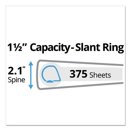 "Protect And Store Durable View Binder With Slant Rings, 3 Rings, 1.5"" Capacity, 11 X 8.5, White"