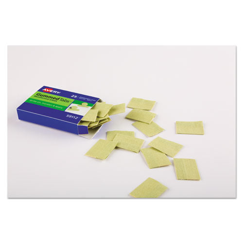"Gummed Reinforced Index Tabs, 1-5-cut Tabs, Olive Green, 1"" Wide, 50-pack"