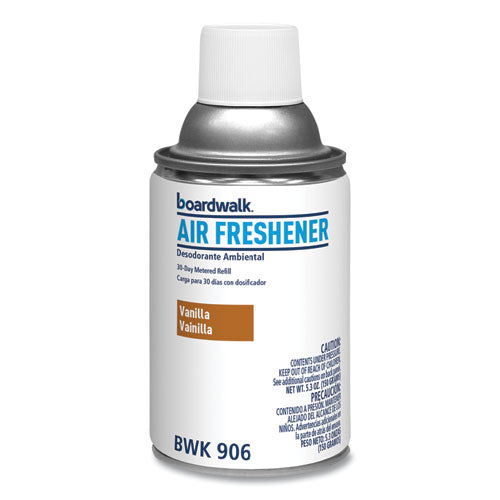Metered Air Freshener Refill, Vanilla Bean, 5.3 Oz Aerosol, 12-carton