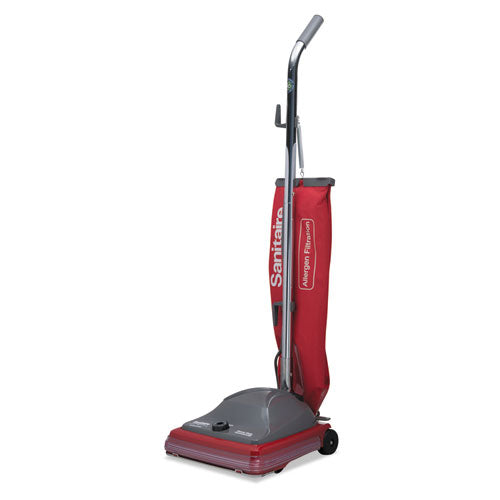 Tradition Upright Bagged Vacuum, 5 Amp, 19.8 Lb, Red-gray