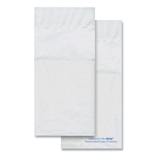 Bio-shield Dinner Napkins, Quickset Design, 2-ply, 17 X 17, 4.25 X 8.5 Folded, White, 800-carton