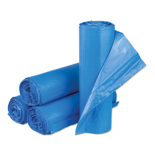 "High-density Commercial Can Liners, 33 Gal, 14 Microns, 30"" X 43"", Blue, 250-carton"