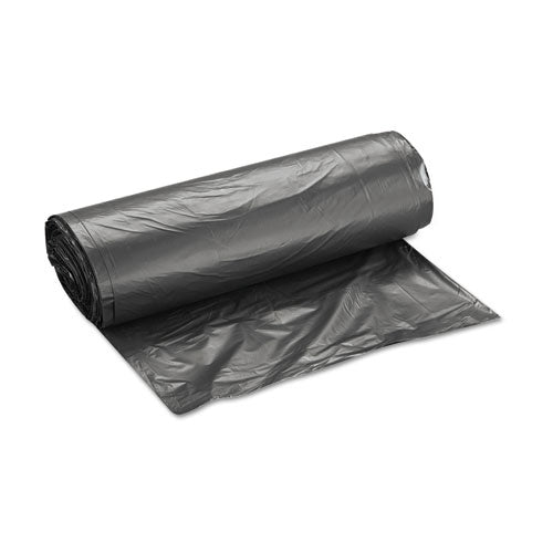 "High-density Interleaved Commercial Can Liners, 33 Gal, 16 Microns, 33"" X 40"", Black, 250-carton"