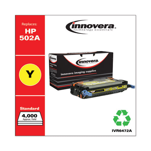 Remanufactured Yellow Toner, Replacement For Hp 502a (q6472a), 4,000 Page-yield